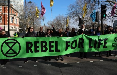 Climate change protestors disrupt London Fashion Week
