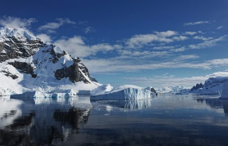 Warm sea water under Antarctica causing ice to melt